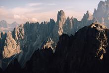 Sharp Peaks Of Stone Rocks Landscape