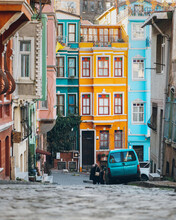 Colorful City Street In Turkey