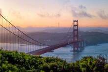 Morning Dawn At The Golden Gate Bridge