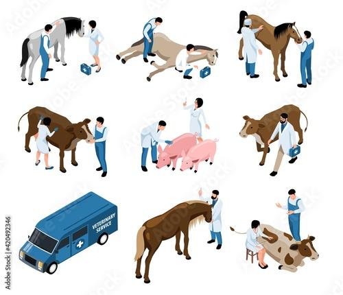 Canvas Farm Veterinary Isometric Set