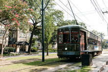 Trolly In The Garden District Of New Orleans