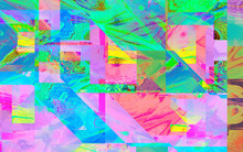 Iridescent Abstract Glitch Background