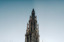 Our Lady's Cathedral From Antwerp City Belgium
