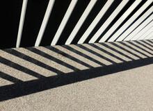 Shadow Of Railing On Street