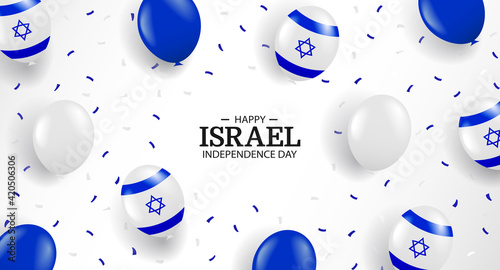 Photo Vector Illustration of Independence Day of Israel