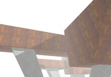 Abstract Modern Architecture 3d