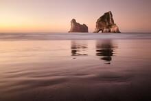 Tranquil Wharariki Beach.