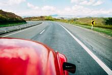 Road Trip In A Red Car Around Brazil