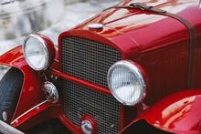 Vintage Rare Car In Urban Area