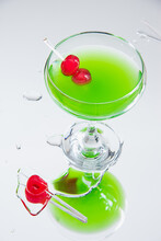 Peppermint Martini Cocktail