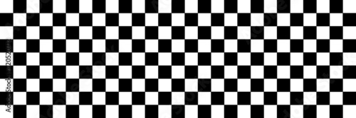 Stampa su Tela black and white chess board vector
