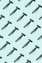 Men Disposable Shaving Machines Pattern.