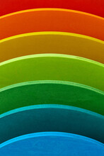 Creative Rainbow Colored Wooden Pattern.