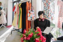 Beautiful And Stylish Old Woman Fashion Designer