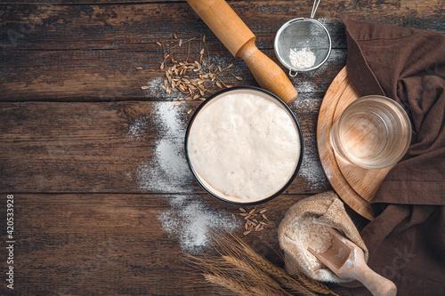 Fotografie, Obraz Ingredients for making bread