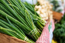 Market: Green Green Onions Bunched For Sale