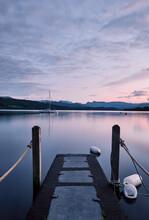 Dawn Sky. Millerground, Lake Windermere, Lake District, Cumbria, UK.