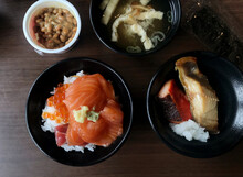 Close Up The Japanese Food In The Coffee Shop, The Journey In Japan