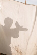 Man Showing Bird Shadow