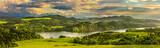 Fototapeta Na sufit - Panorama jeziora Czorsztyńskiego, ruiny zamku