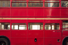 An Old Traditional London Red Bus