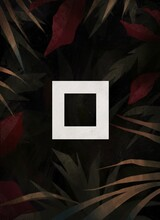 Glowing Square Among Tropical Leaves