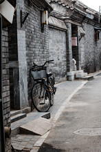 Bicycle In A Beijing Hutong