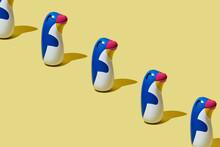 Line Of Penguin-shaped Floaties