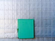 Green Door Of Prairie Silo