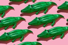 Mosaic Of Crocodile-shaped Floaties