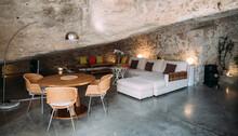 Modern Interior Design Of Living Room Inside Rock