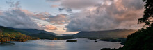 Derwent Water And Bassenthwaite Lake At Sunrise. Lake District, Cumbria, UK.