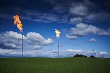 Burning Gas Wells