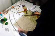 Artist Making Stained Glass