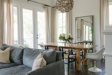 Modern And Eclectic Dining And Living Room