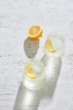 Fresh Lemon Lime Citrus Fruit And Water