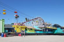 Amusement Park On The Beach