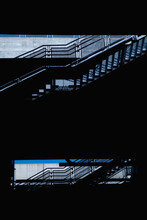 Black Urban Stairway Composition With Copyspace