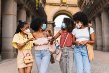 Girls Wearing Face Masks