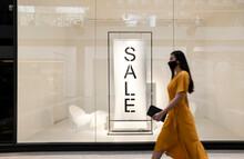 Asian Woman Shopping During Pandemic