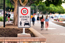 Shared Zone Sign