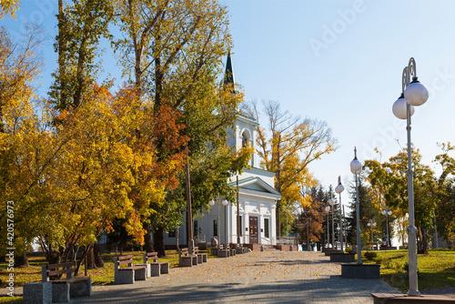 Canvastavla Church of St. John the Baptist in Nagorny Park, Barnaul. Russia