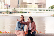 Two Young Woman Sightseeing
