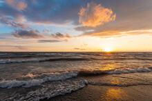 Beautiful Sunset On Lake Erie