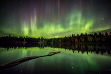 Ness Lake Aurora Reflection