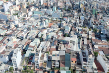Top View Of Houses In Ho Chi Minh City