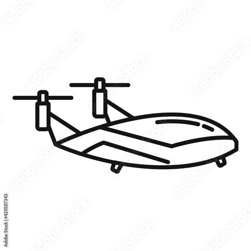 Fotografia Flying unmanned taxi icon, outline style