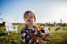 Boy Eating Marshmallows