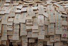 Wooden Japanese Prayer Tablets With Wishes