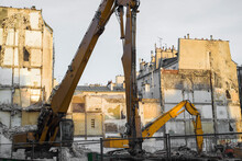 Crane In A Construction Site In The City